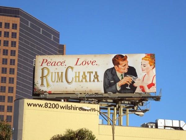 Peace Love Rum Chata billboard