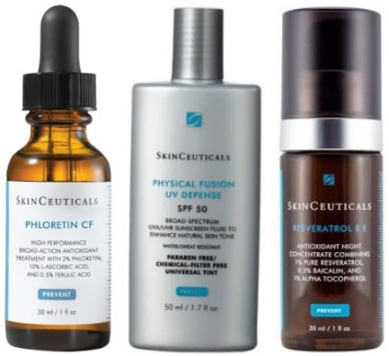 SkinCeuticals is an effective skincare line founded in in the United States. The products feature a tested combination of antioxidant ingredients invented by Dr. Sheldon R. Pinnell. He is a world-renowned professor of Dermatology at Duke University Medical Center. This special combination of antioxidants can reverse the aging process and can also protect the .