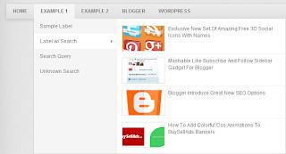 Navigasi Menu Widget untuk Blogger