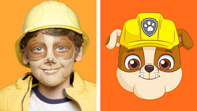 NickALive!: Learn How To Look Like Rubble And Skye From \