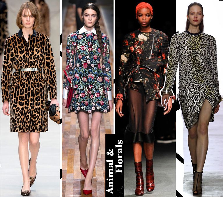 Women's Fall 2013/2014 Trends- Animal and floral prints