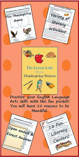 http://www.teacherspayteachers.com/Product/Thanksgiving-English-Literacy-Centers-Stations-160884