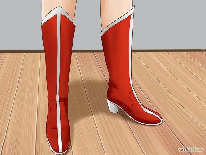 Como fazer fantasia de Mulher Maravilha - Botas customizadas