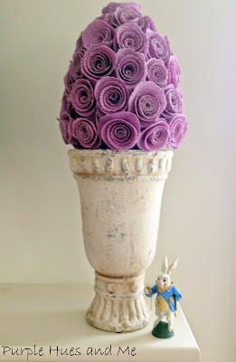 burlap spring and Easter Spiral flowers