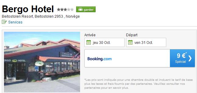Hotel pas cher en Norvège