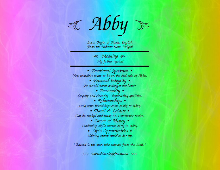 Abby - Meaning of Name
