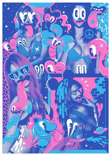 Spring Breakers by Hattie Stewart, exhibited at Summer Screen Prints