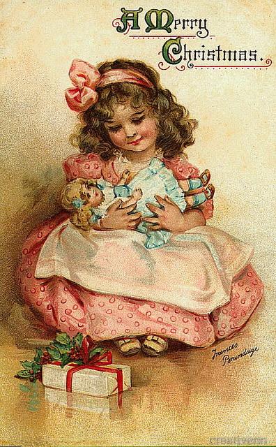 И новогодние старинные открытки