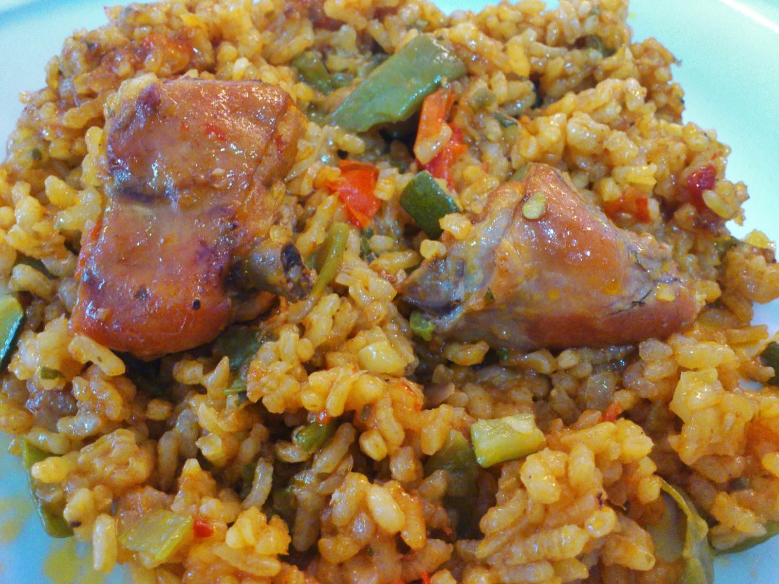 Dvicio arroz con conejo - Arroz con verduras y costillas ...
