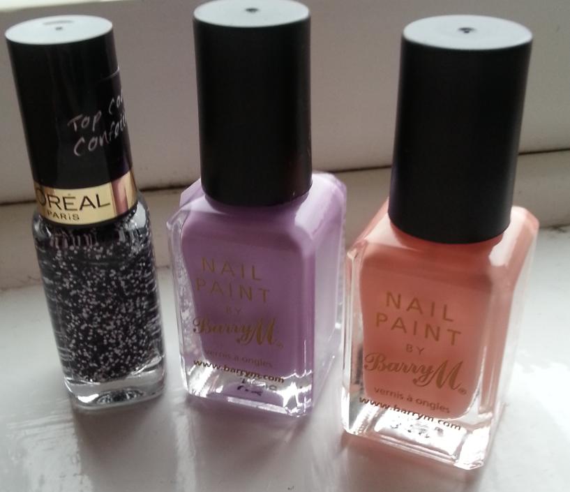 L'oreal confettis, barry m, pastel nail polish
