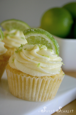 Sweet Scarlet: Coconut & Lime Cupcakes with Cream Cheese Buttercream