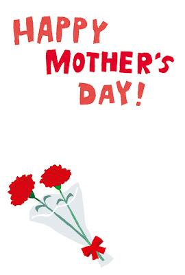 母の日のはがきテンプレート「カーネーションの花束」