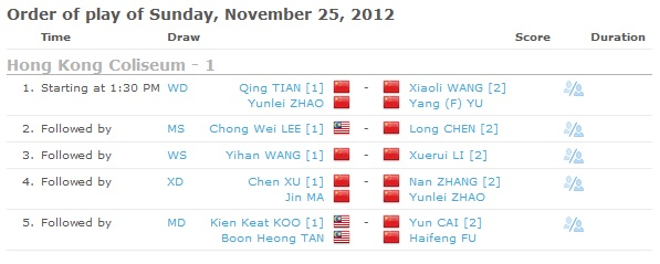 Live Streaming Final Badminton Hong Kong Open 2012