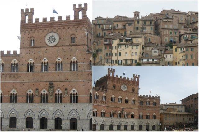 Palacio Publico en la Plaza del Campo en Siena, Vistas de Siena
