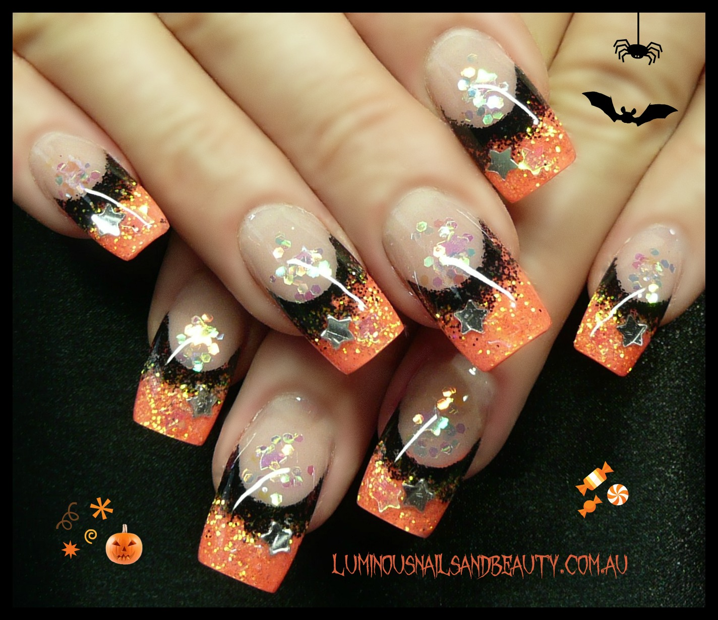 Halloween Nail Art: Luminous Nails: October 2012