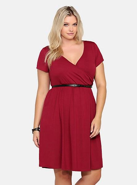 Belted Faux Wrap Dress