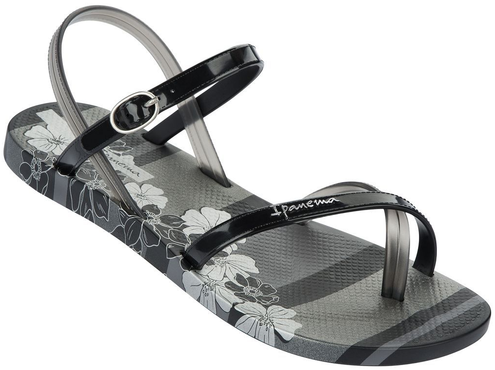 Ipanema Fashion Sandalen schwarz mit Blumen