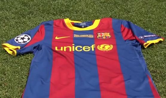camiseta Barça final Liga de Campeones 2011 Wembley