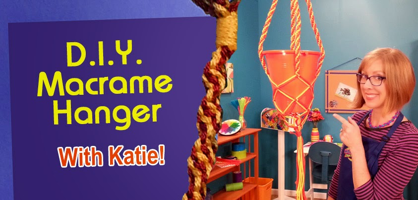 Macrame Hanger with Katie Hacker - Photo courtesy of Hands On Crafts for Kids