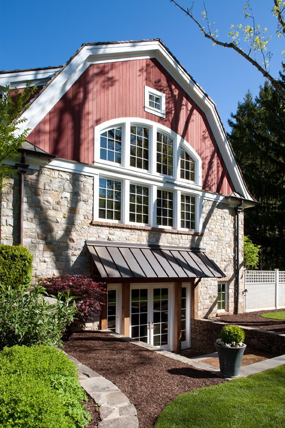 Crunchylipstick barn addition by dubinett architects via for Barn shaped house