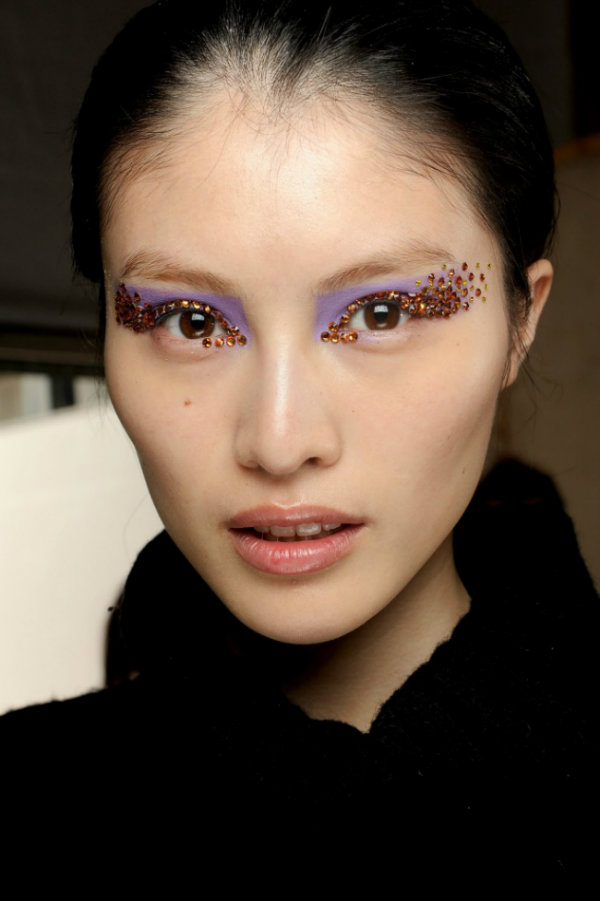 dior spring summer 2013 makeup, crystal makeup