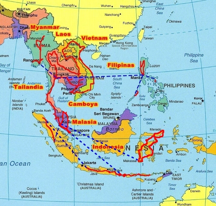 Sudeste Asiatico Mapa Sudeste Asi Tico Sudeste de