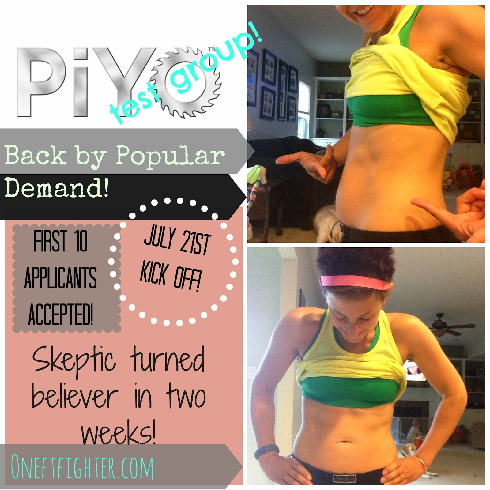 piyo test group, piyo transformation