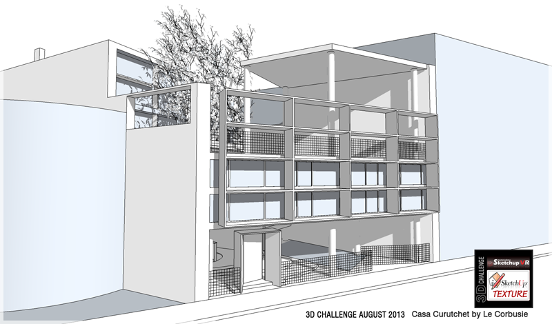 Le corbusier casa curutchet 3d challenge - Casas de le corbusier ...