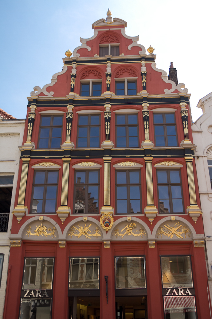 Edificio de Zara en Brujas