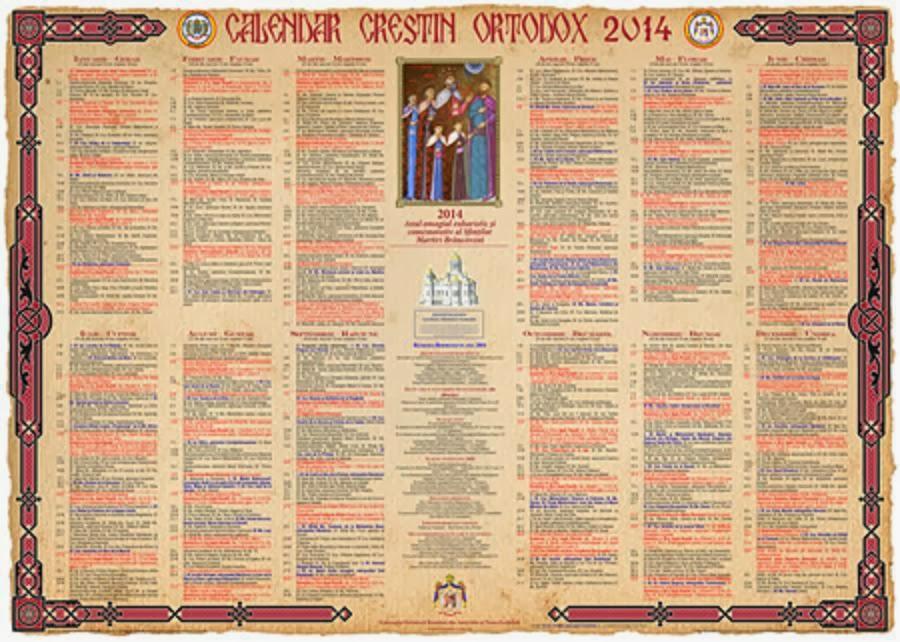 calendar, calendar crestin ortodox, sarbatori crestine ortodoxe, sarbatori religioase, sarbatori ortodoxe