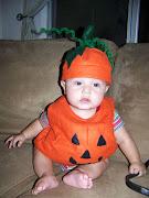disfraz de calabaza bebe. Hermosa calabacita!