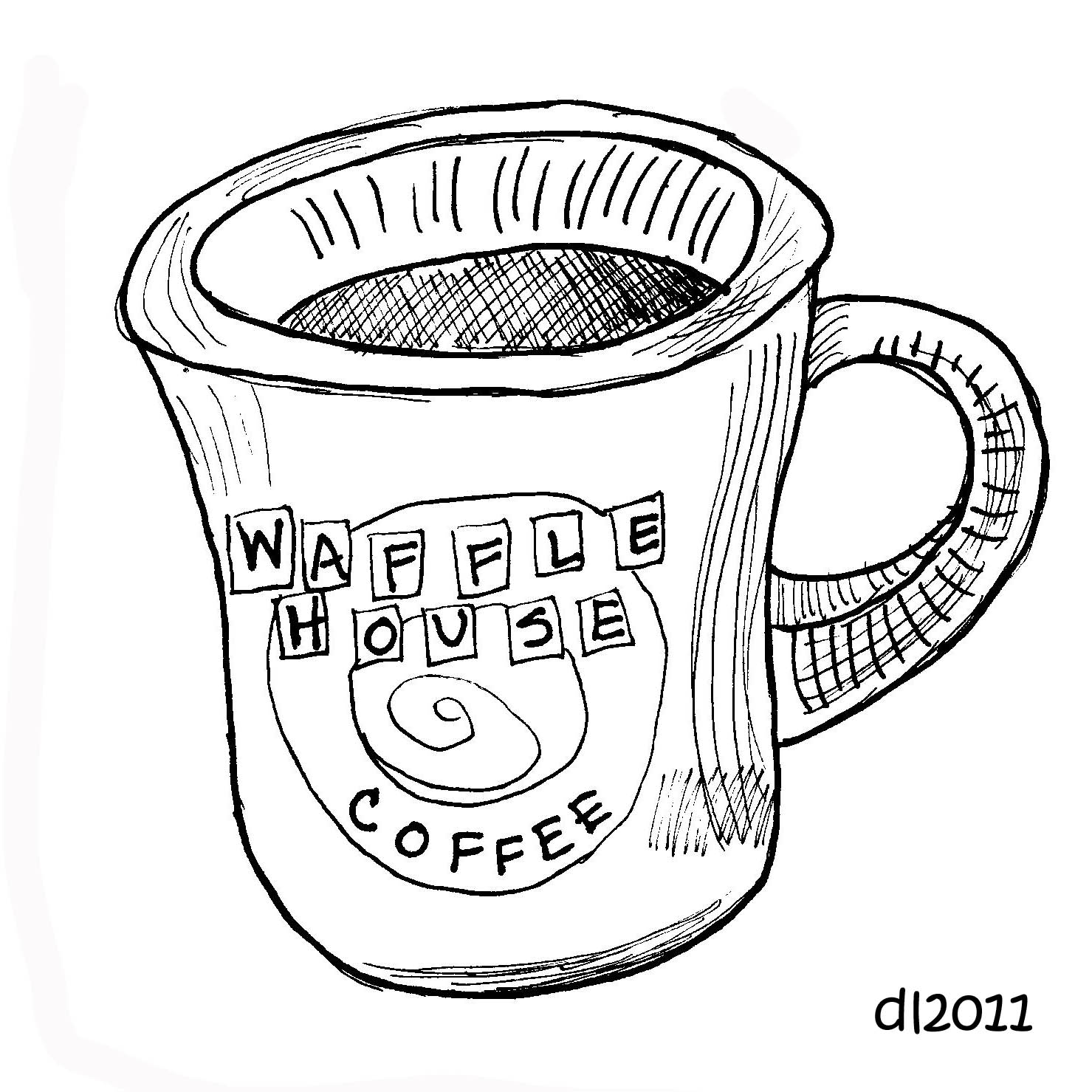 Waffle house coloring pages coloring pages for Waffle coloring page