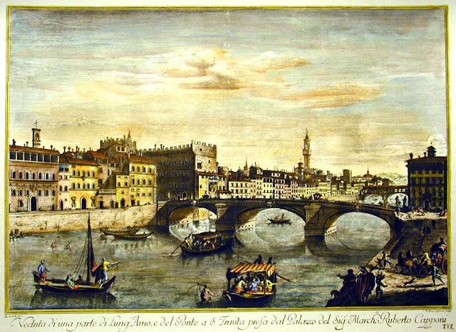 Santa Trinita bridge seen from Capponi's palace - Florenta