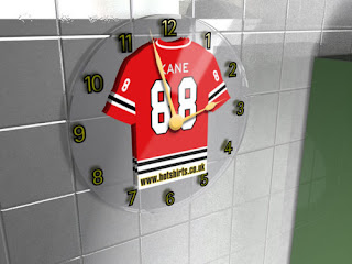 Chicago Blackhawks NHL Personalized Jersey Large Wall Clock