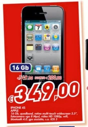 La catena commerciale Bennet offre l'iPhone 4S con 16 GB di memoria interna ad un prezzo molto vantaggioso fino al 22 gennaio 2014