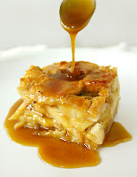 Apple Rum Bread Pudding with Butterscotch Sauce