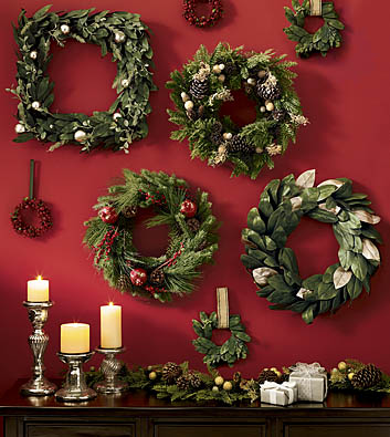 Be Different Act Normal Decorating with Christmas Wreaths #2: wreath grouping