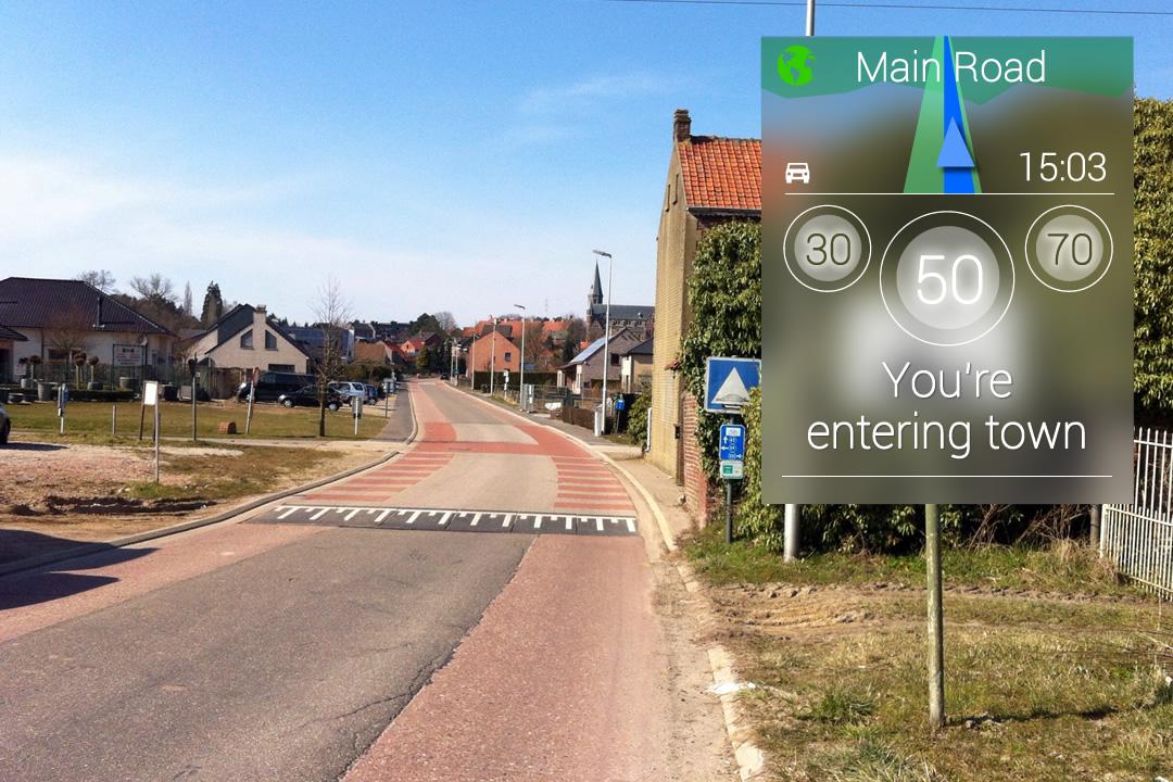 Vertaling van verschillende verkeersborden met Google Glass