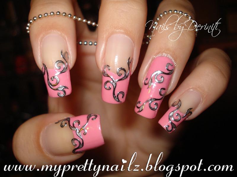My Pretty Nailz: Easy Elegant French Tips Nail Art Design, Video ...