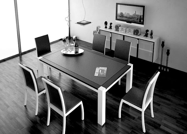 black and white dining room chairs