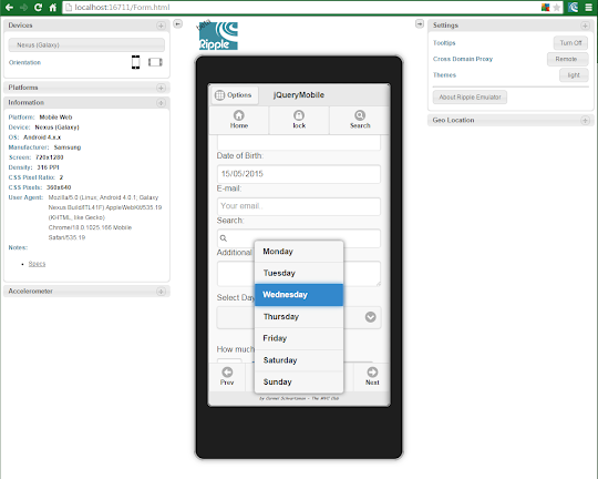 jQuery Mobile Form