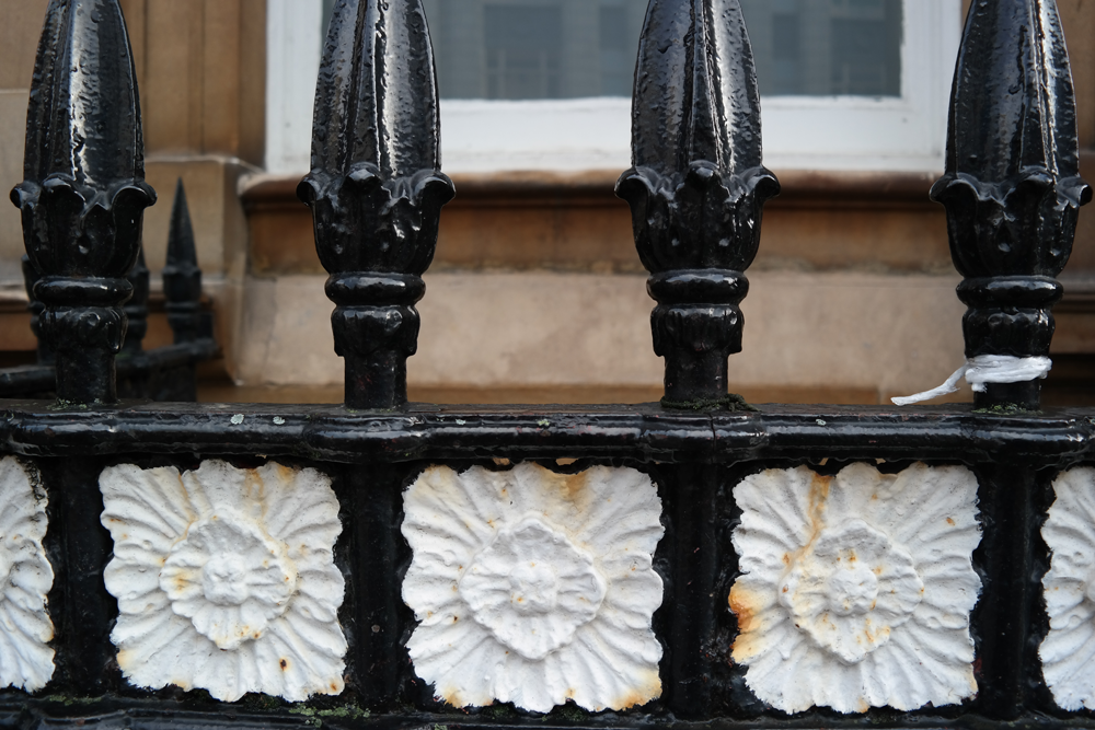 Painted railings