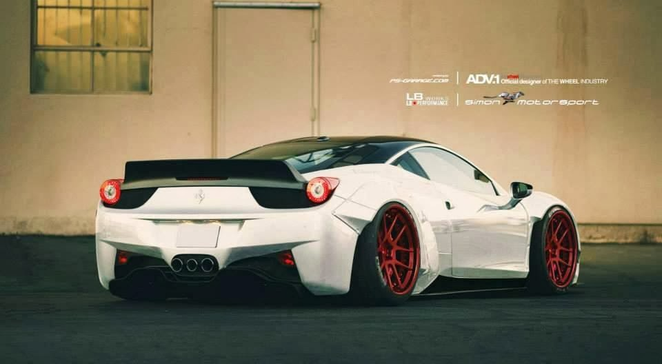 ferrari italia widebody. Liberty Walk LB Performance Working On Widebody Ferrari 458 For Dubai Customer Italia A
