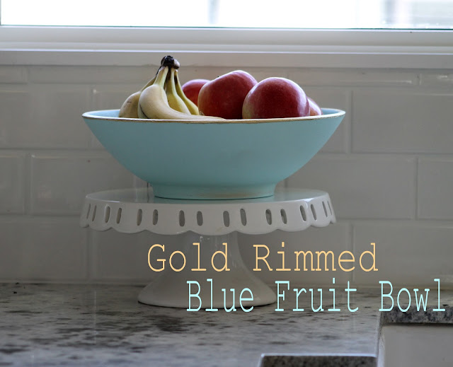 Blue fruit bowl