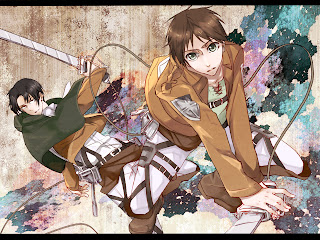 Attack on Titan Shingeki no Kyojin Eren Jaeger Levi Rivaille Anime Sword Blade HD Wallpaper Desktop Background