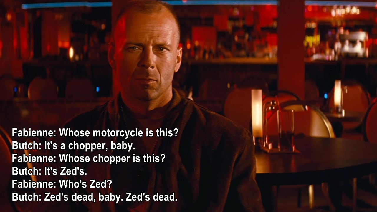 Charmant Pulp Fiction Movie Quotes, Escapematter