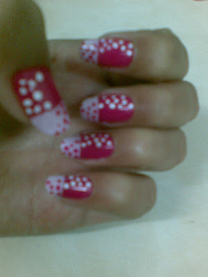 pretty pink nail art design