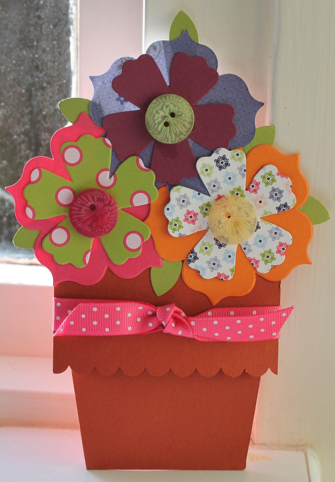 Stampin' Sarah!: Flower Pot Card