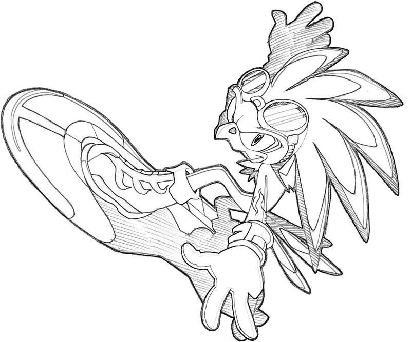 Sonic Jet The Hawk Memes Sonic Riders Coloring Pages