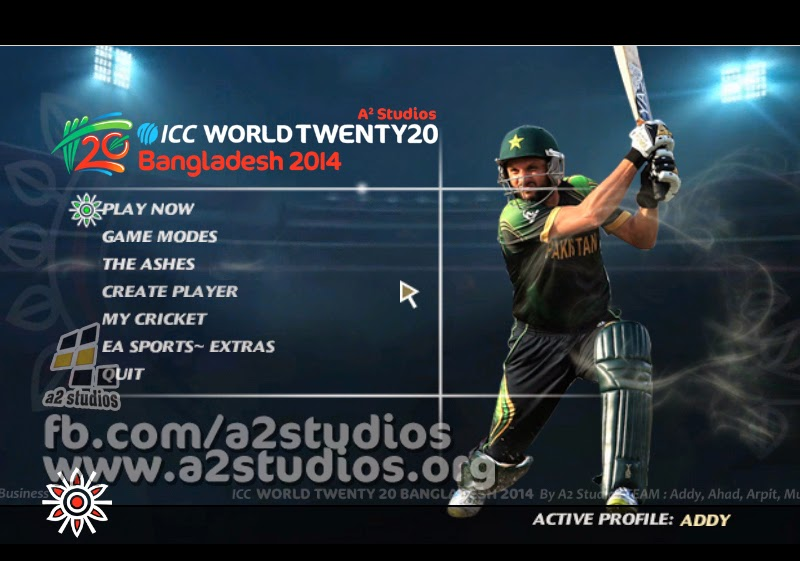 ICC T20 WORLD CUP 2014 MENU